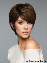 Fashion Brown Cropped Straight Boycuts Human Hair Wigs