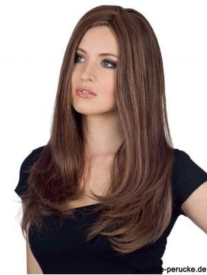 Natural Human Hair Straight Feminine Wig With Monofilament Long Lengh