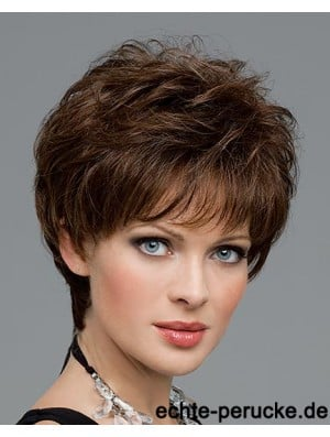 Curly Human Hair 100% Hand Tied Curly Style Layered Cut