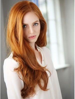 Glueless Full Lace Human Hair Deborah Ann Woll Wigs Cropped Color Long Length