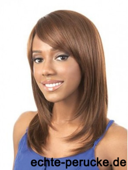 Wigs For Woman Brown Color Straight Style Shoulder Length