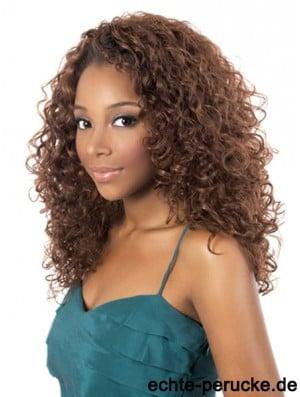 African Synthetic Hair Shoulder Length Kinky Style Auburn Color