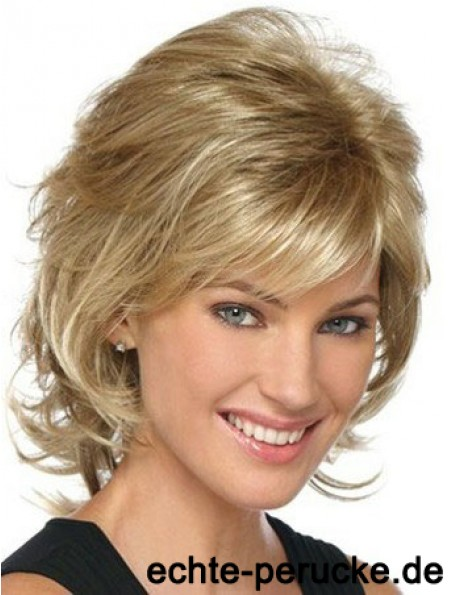Classic Womens Wigs With Lace Front Layered Cut Chin Length