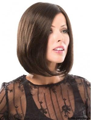 12 inch Chin Length Ideal Black Straight Bob Wigs