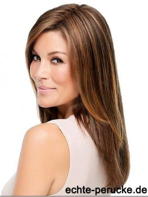 Cheap Synthetic Fashion Wigs Monofilament Brown Color Straight Style