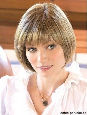 10 inch Chin Length Blonde Straight Designed Bob Wigs