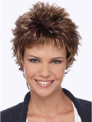 Boycuts Blonde Wavy 6 inch Short Synthetic Wigs