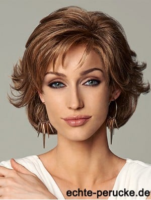 10 inch Layered Wavy Chin Length Heat Resistant Synthetic Lace Front Wig