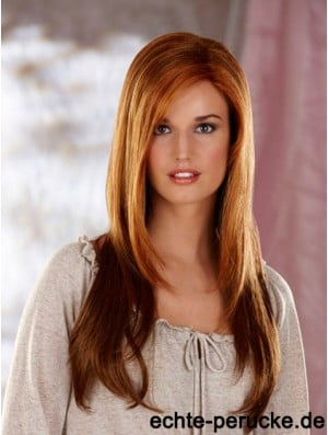 Straight Layered Long Auburn High Quality Lace Front Wigs