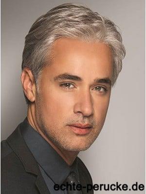 Synthetic 6 inch Grey Short Wavy Hair For Men