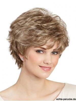 Classic Wavy 8 inch Blonde Capless Lady Wig