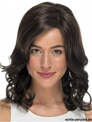 Curly Without Bangs Black 14 inch Monofilament Cheap Wigs For Cancer Patients
