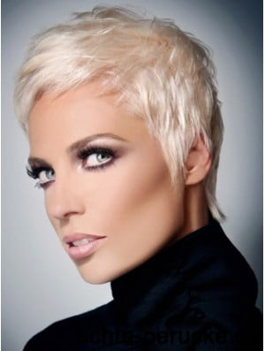 Synthetic Wig With Capless Grey Cut Short Length Straight Style