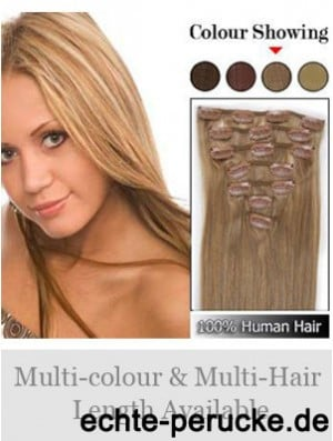 Soft Blonde Straight Remy Human Hair Clip In Hair Extensions