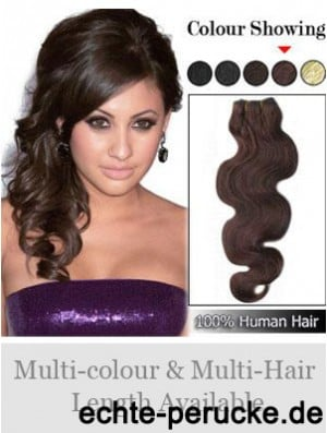 Wavy Remy Human Hair Auburn Ideal Weft Extensions