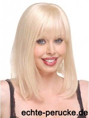 Cheap Straight Blonde Long Human Hair Hairpieces